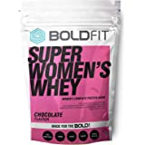 Boldfit Super Women's Whey Protein Powder For Women with Ayurvedic Herbs For Hair Skin and Nails support, No Added Sugar, Ideal for weight loss & slim body, Keto Friendly