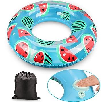 Olycism Flotador inflable de la piscina del flamencopara el anillo de la natación del aire de la estera del Sunbathe (Uomo: 31.5 pulgadas)