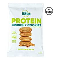 Buff Cake Protein Sandwich Cookies, 12 Grams of Whey Protein, Gluten Free - Snickerdoodle, 408 Grams (Pack of 8)