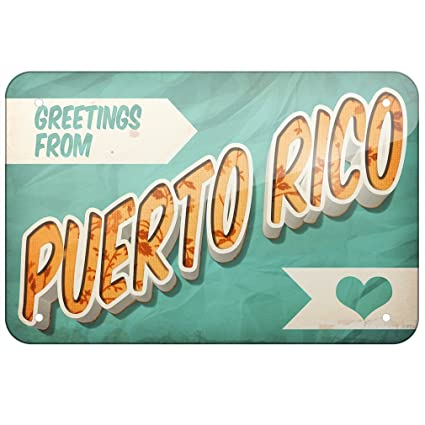 Amazon metal sign greetings from puerto rico vintage postcard metal sign greetings from puerto rico vintage postcard small 8x12quot neonblond m4hsunfo