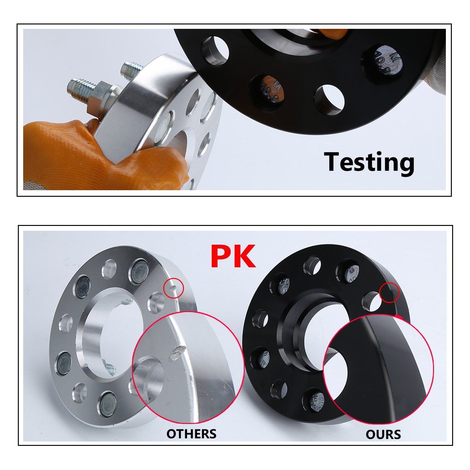 Wheel Spacers Jeep Kia Mazda,KSP 5X4.5 to 5X4.5 Thread Pitch M12x1.5 Hub Bore 67.1mm Thickness 20mm Wheel Spacer Fusion Hyundai Genesis Compass Patriot,2 Years Warranty by KSP Performance (Image #5)