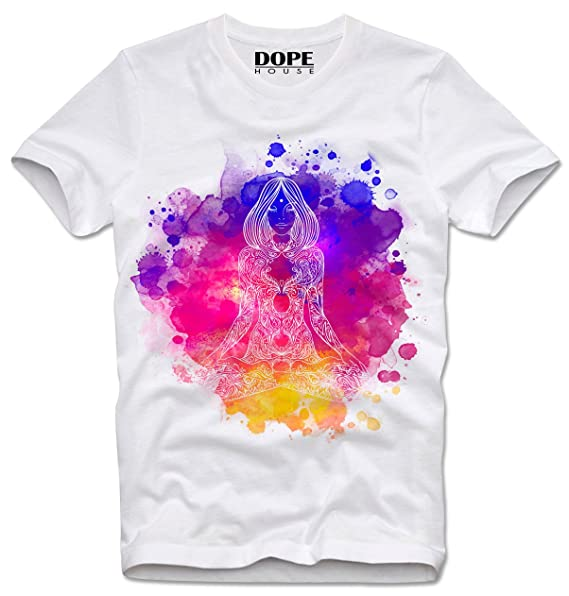 DOPEHOUSE T-Shirt Camiseta CHAKRA MEDITATION YOGA INDIEN GOA ...
