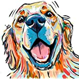 Andux 5D Diamond Painting Kits Full Round Drill Arts Craft for Home Wall Decor ZSH-01 (30 x 40cm) (Smiling Golden…