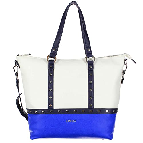 LIU JO IO PU SHOPPING BAG - N16149E0037 84043 BLU PALAZZO  Amazon.it ... 869392a30bc