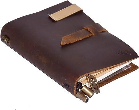 Leder Notizbuch A6 Vintage Reise Tagebuch Notizbuch Nachfüllbares