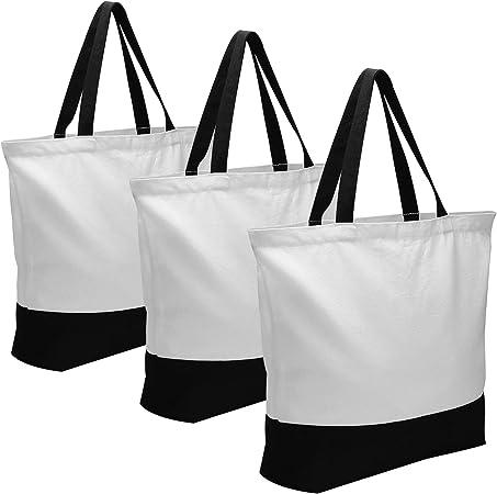 Amazon.com: Bolsas de lona, 3 piezas multiusos bolsa de lona ...