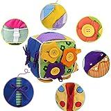 ウンチョン 紐通し おもちゃ ボタン 練習 知育 教育玩具 布の玩具 紐結び 練習 指先の知育 保育園 幼稚園 モンテッソーリ幼児 子供
