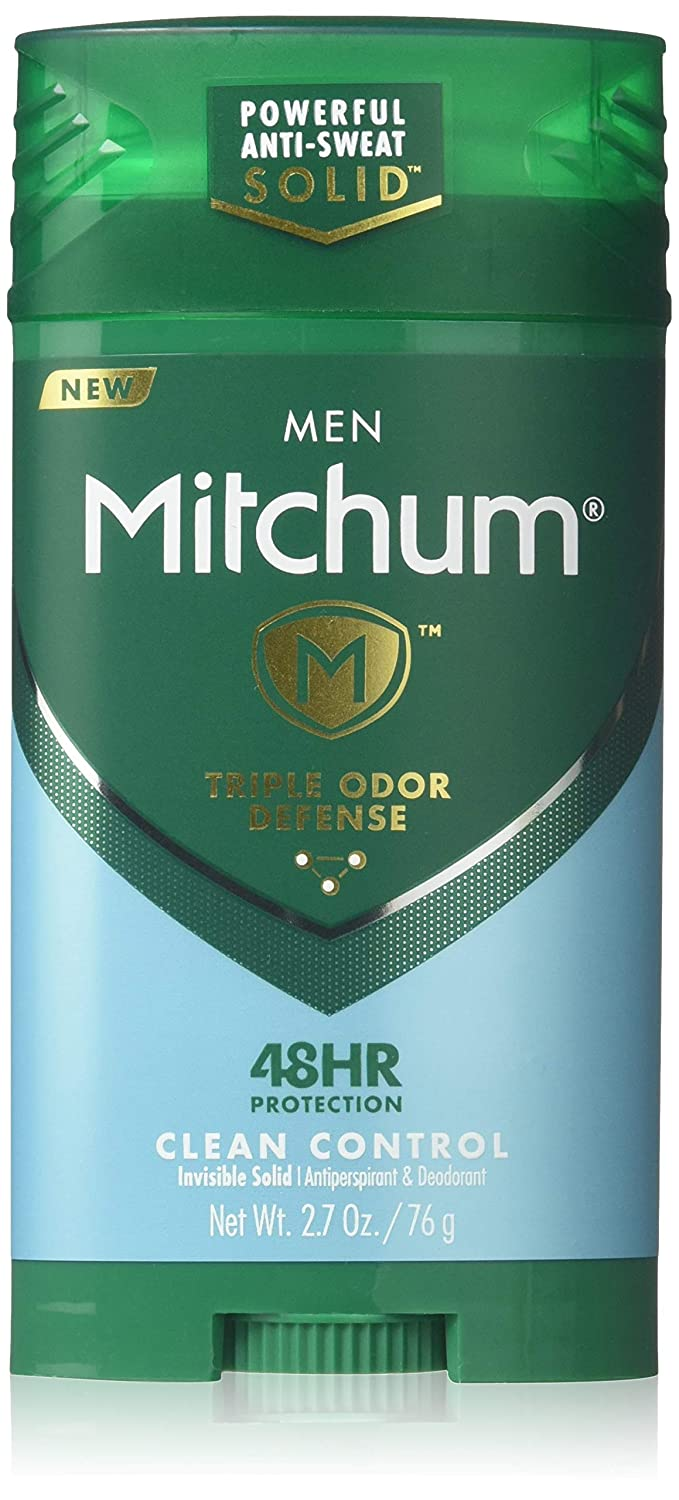 Mitchum Men Advanced Control, Clean Control Invisible Solid 2 7 Ounce (Pack  of 2)