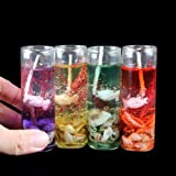 PeepalComm 6pcs/Pack Crystal Gel Candles for Home Decoration Party Birthday Diwali Christmas (2.7 x 2.7 x 8.0cm)
