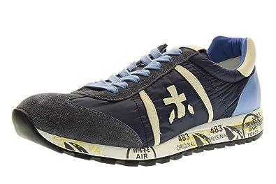 PREMIATA hombre bajas zapatillas de deporte LUCY 1298E talla 43 Azul / azul claro Mpohl