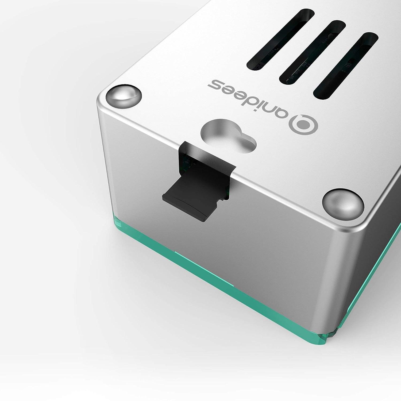 anidees Pi Case Bo/îtier en Aluminium avec Couvercle pour Raspberry Pi 4 mod/èle B AI-PI4-BB Noir