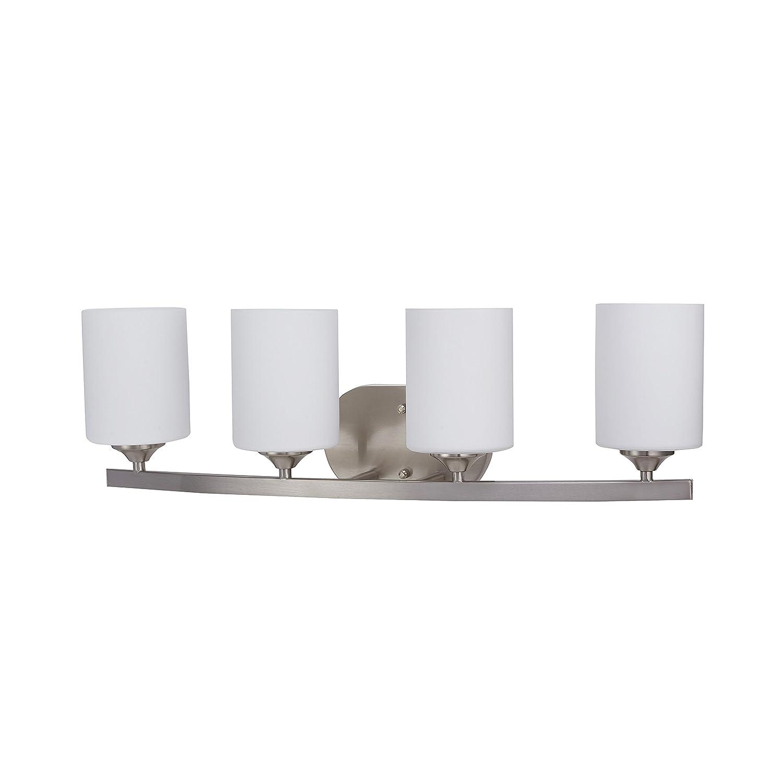 Amazon com britelight 5 years warranty 4 bulb e26 vanity light fixture bathroom lighting brushed nickelul listed home improvement
