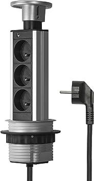 Elbe Bloc Prise Encastrable 3 Prises De Courant Diametre 80mm