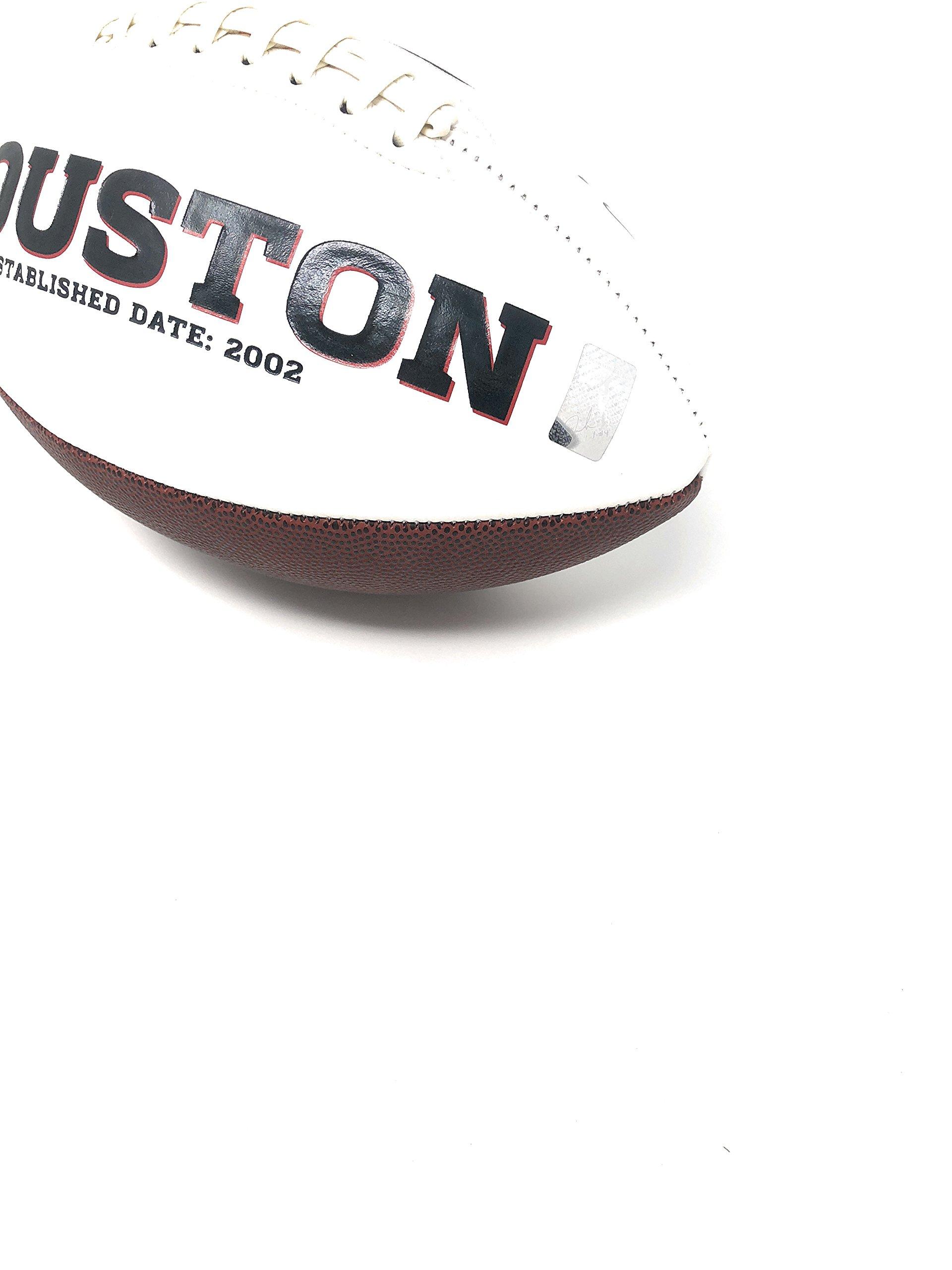 Deshaun Watson Houston Texans Signed Autograph Embroidered Logo Football Watson GTSM Player Hologram
