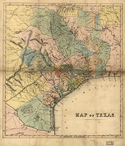 Map Of Texas 1840.Amazon Com Vintage 1840 Map Of Map Of Texas Texas United States