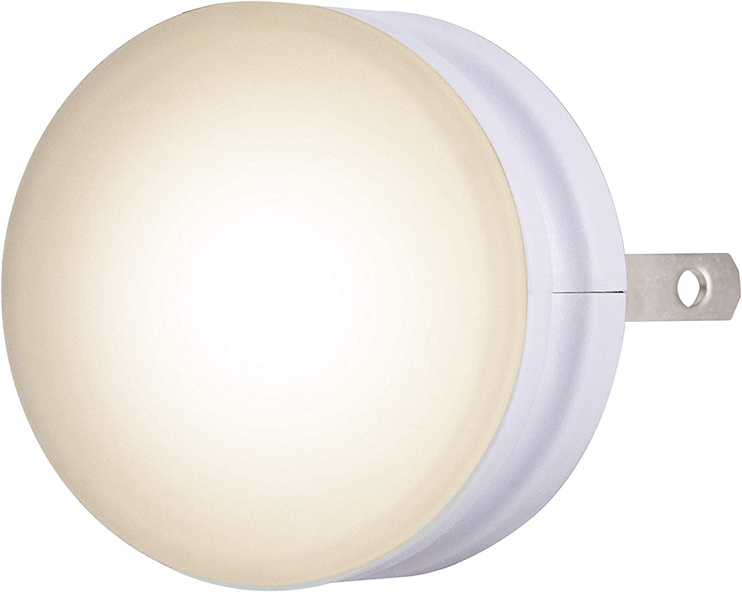 Lights by Night LED GLO Dot Night Light Dusk-to-Dawn Sensor, Plug-in, Home Décor, Compact, for Elderly, Ideal for Kitchen, Bathroom, Bedroom, Nursery, Hallway, 42885, 1 Pack, White