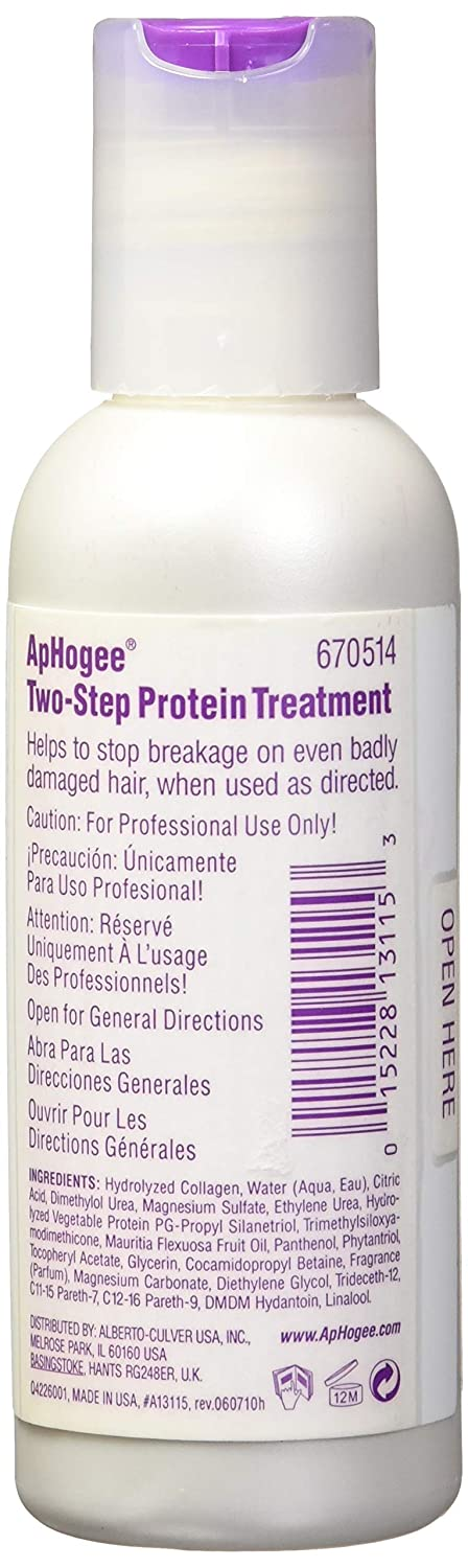 Amazon.com : Aphogee Two-step Treatment Protein for Damaged Hair 16 oz. : Hair And Scalp Treatments : Beauty