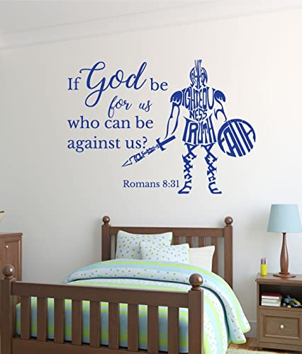 Amazon.com: Bible Verse Vinyl Wall Decal - Romans 8:31 - If God be ...