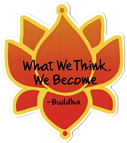 Amazon.com: What We Think, WE Become – Buda – con flor de ...