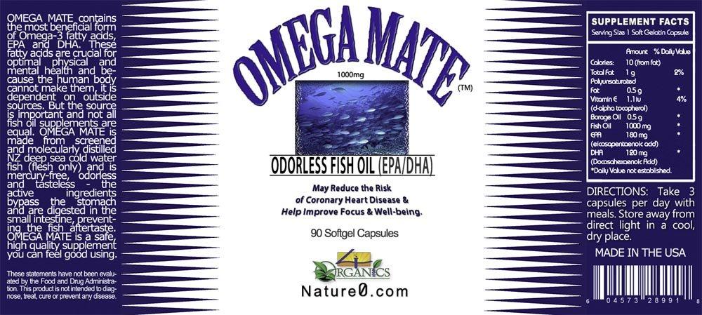 Omega Mate 369 High-grade Fish Oil Cpmplex - 60 Capsules - 6 Pack