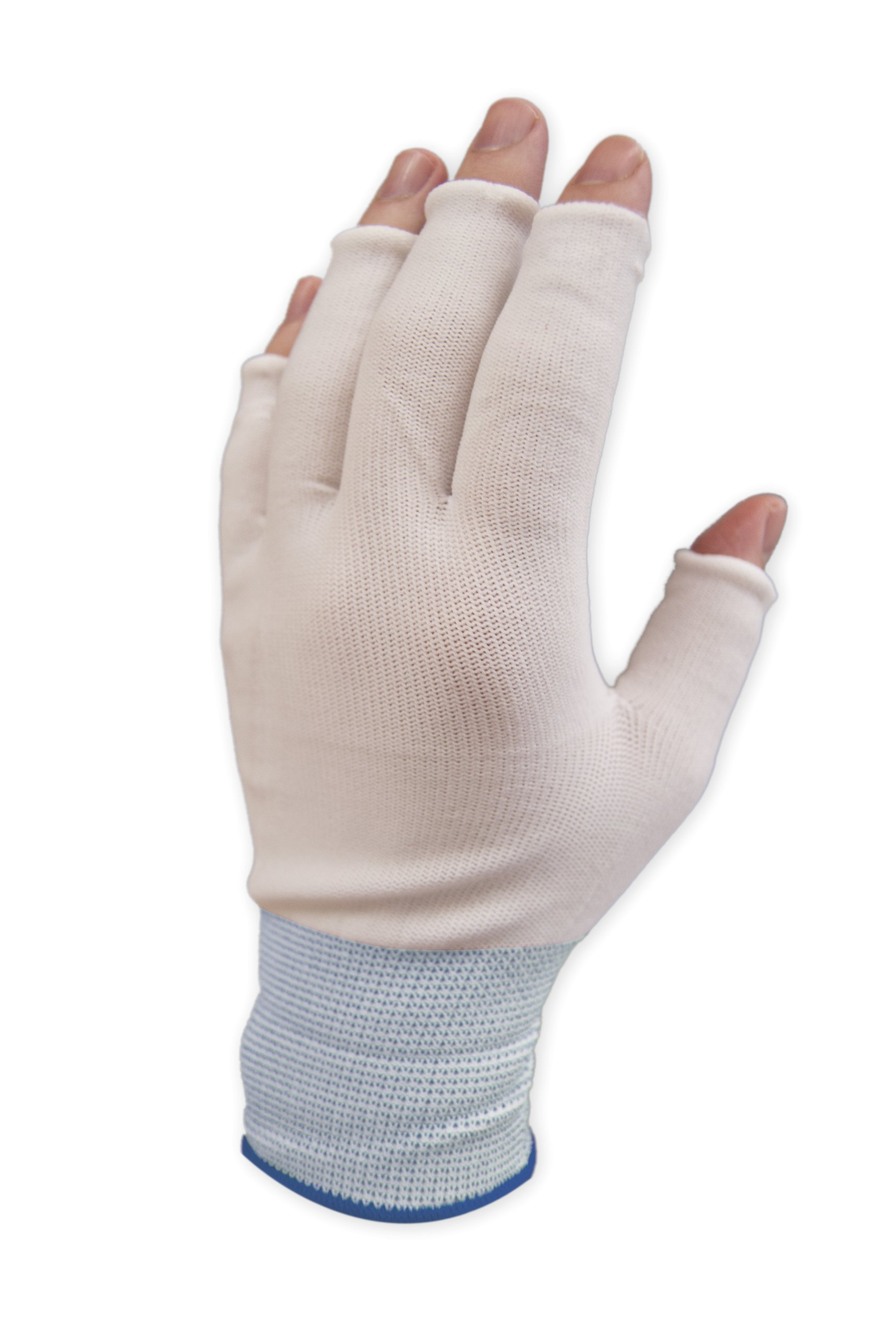 Purus GLHF-L Nylon Half Finger Knit Glove Liner Cuff, 1.7 Mils Thick, Large (Pack of 300 Pairs)