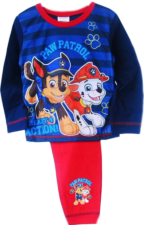 Paw Patrol Baby Pyjama Schlafanzug SET 62 68 74 80 86 Shirt Hose Blau Rot
