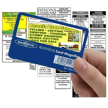 Magnifico tarjeta-tamaño - retrato mini bolsillo lupa de ...
