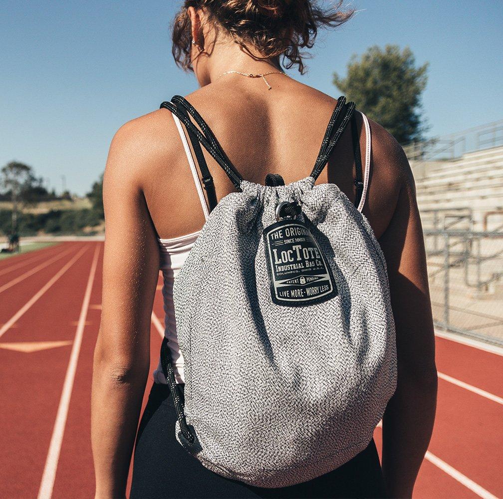 LOCTOTE Flak Sack SPORT - Lightweight Theft-Resistant Drawstring Backpack | Lockable | Slash-Resistant | Portable Safe by LOCTOTE (Image #8)