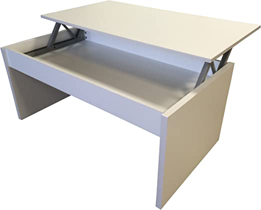 Redstone White Coffee Table Lift Top With Storage