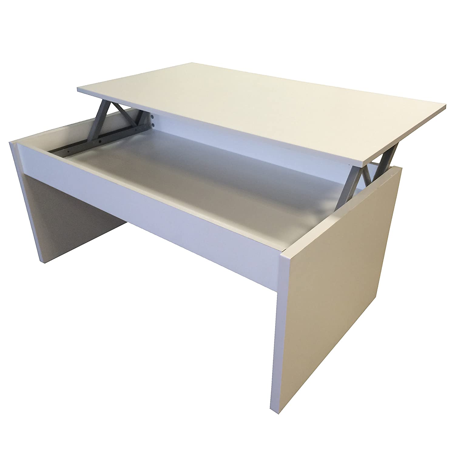 Redstone White Coffee Table Lift Top with Storage Amazon