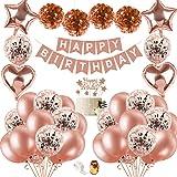 SPECOOL Decoraciones de Fiesta de Cumpleaños con Adorno de Pastel de Bricolaje, Pancarta de Feliz Cumpleaños, Borlas…