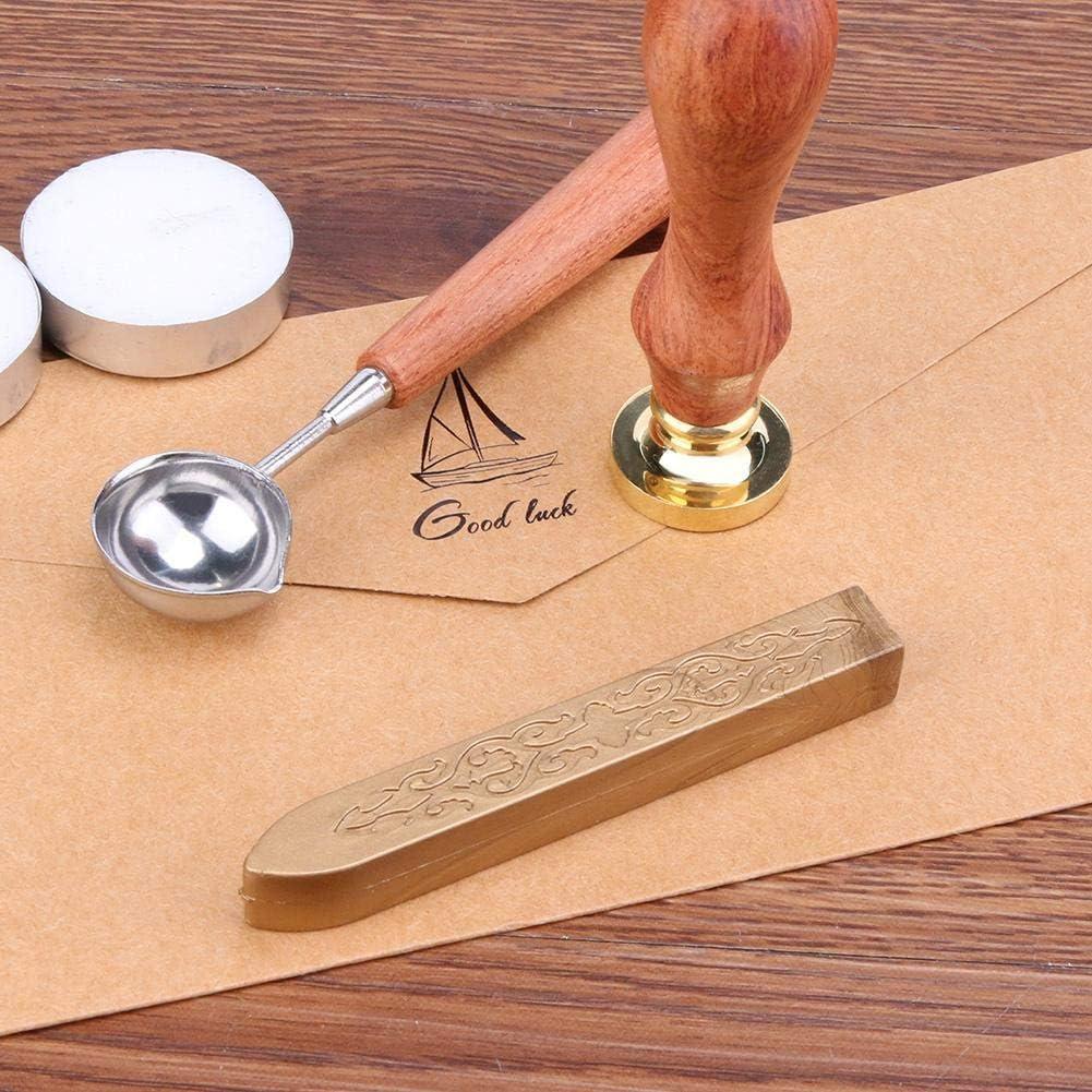 Alte Siegelwachs-Brief-Brief-Hochzeits-Einladungs-Stempel-Docht