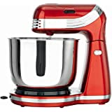Goodqol ® 6 Speed Metalic Red 3L Electric Stand Mixer with Tilt Release and x2 Dough Hooks / Beater by Goodqol ®