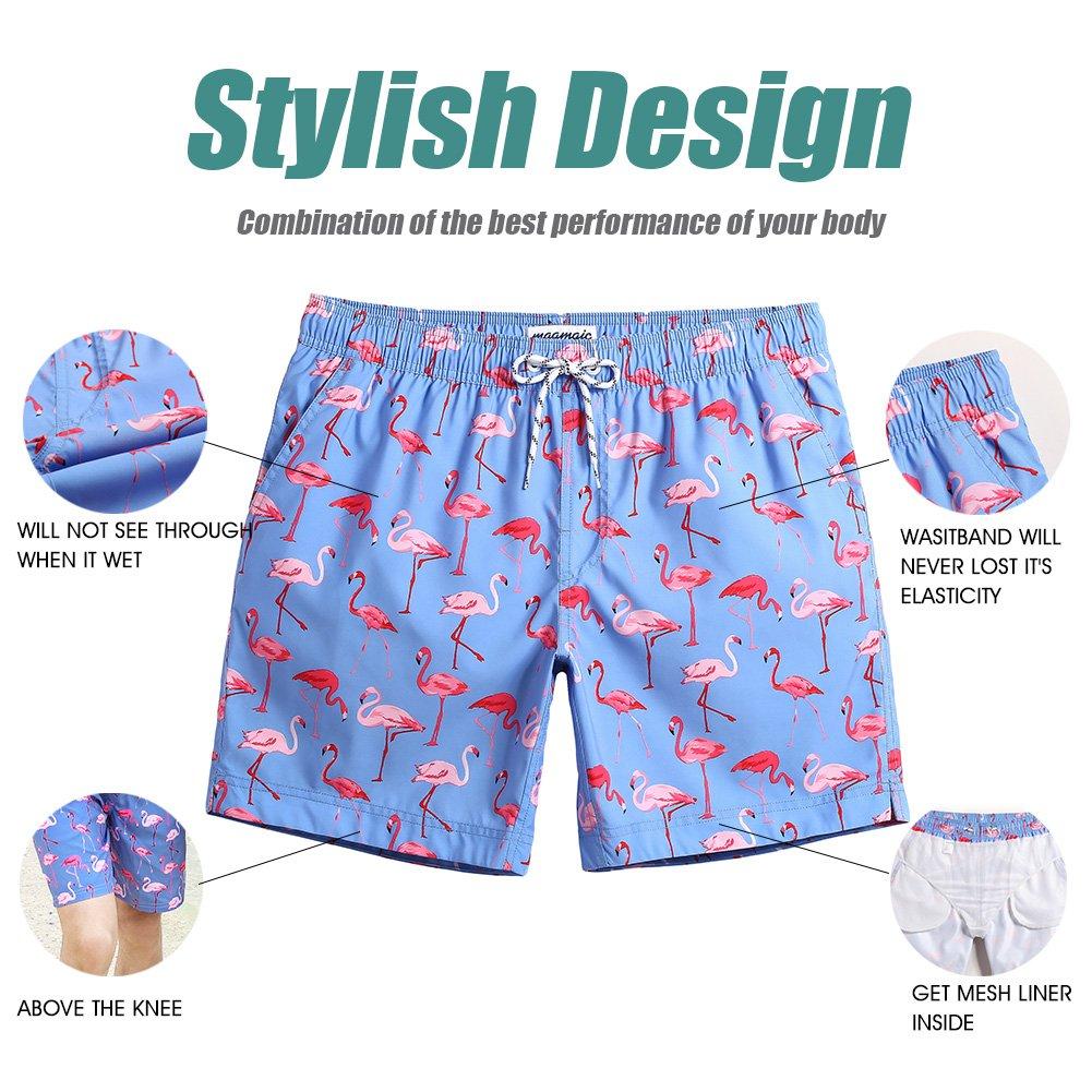 e79ed5f5dc5aa MaaMgic Mens Slim Fit Quick Dry Short Swim Trunks With Mesh Lining,X-Large(Waist:35