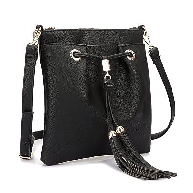 Amazon.com  Dasein Crossbody Bag Messenger Bag Handbags With Fringe ... a1c0a387bba68