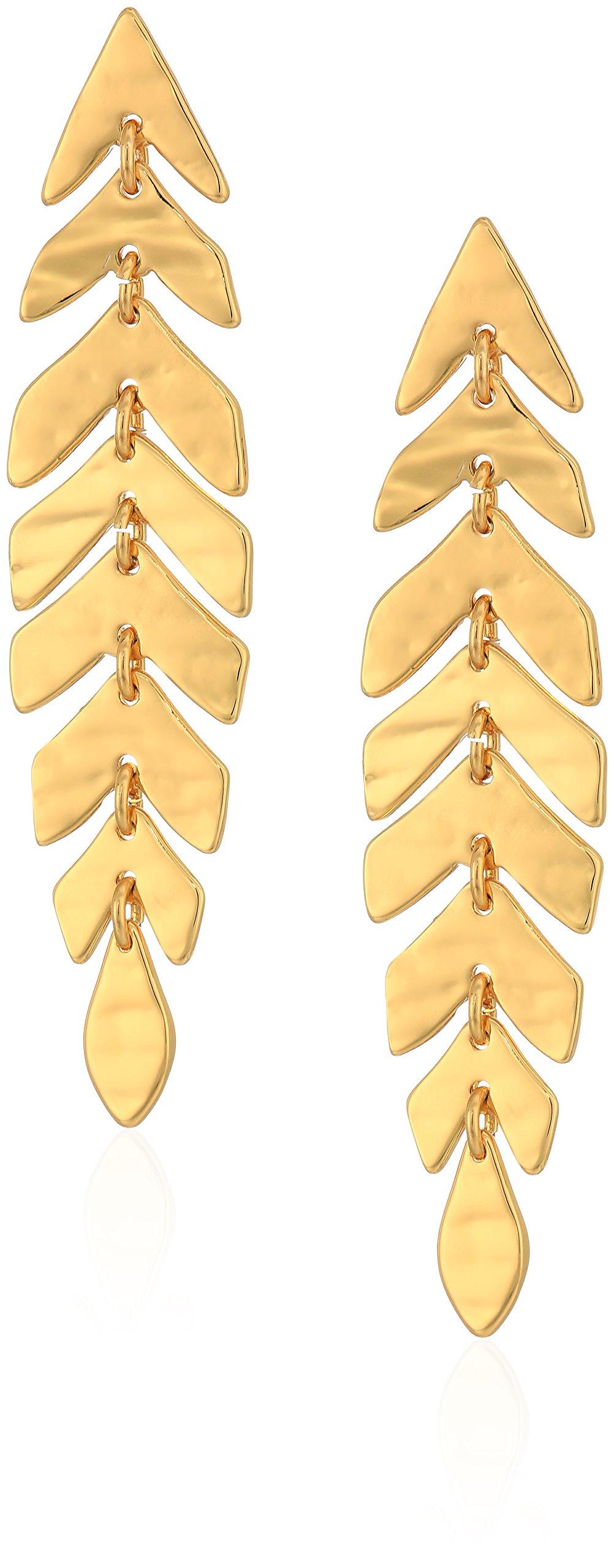 kate spade new york Womens Linear Drop Earrings, Gold