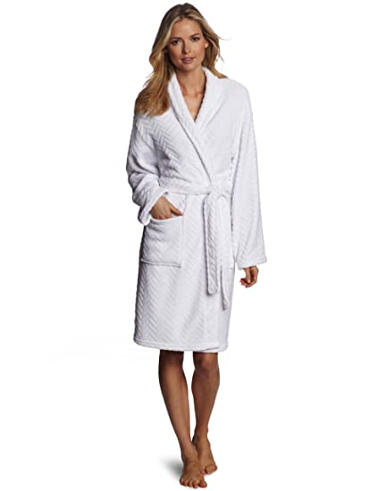 7c0c18ba6f Image Unavailable. Image not available for. Color  Seven Apparel Hotel Spa  Collection Herringbone Textured Plush Robe ...