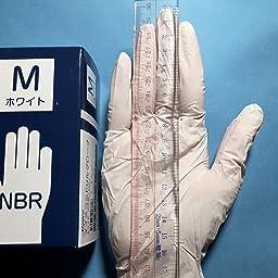 Amazon Co Jp 使い捨て手袋 ニトリルグローブ ホワイト 粉なし サイズ M 100枚入り 病院採用商品 ドラッグストア