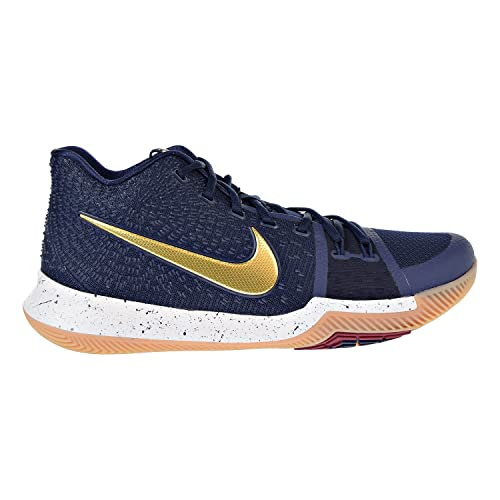 meet b41fe c47c9 Nike Kyrie 3 Men s Basketball Shoes Obidian Metallic Gold White 852395-400 (