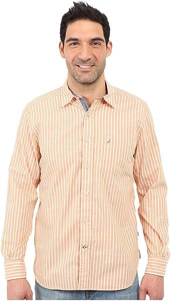 Nautica Island - Camisa de popelín a Rayas para Hombre