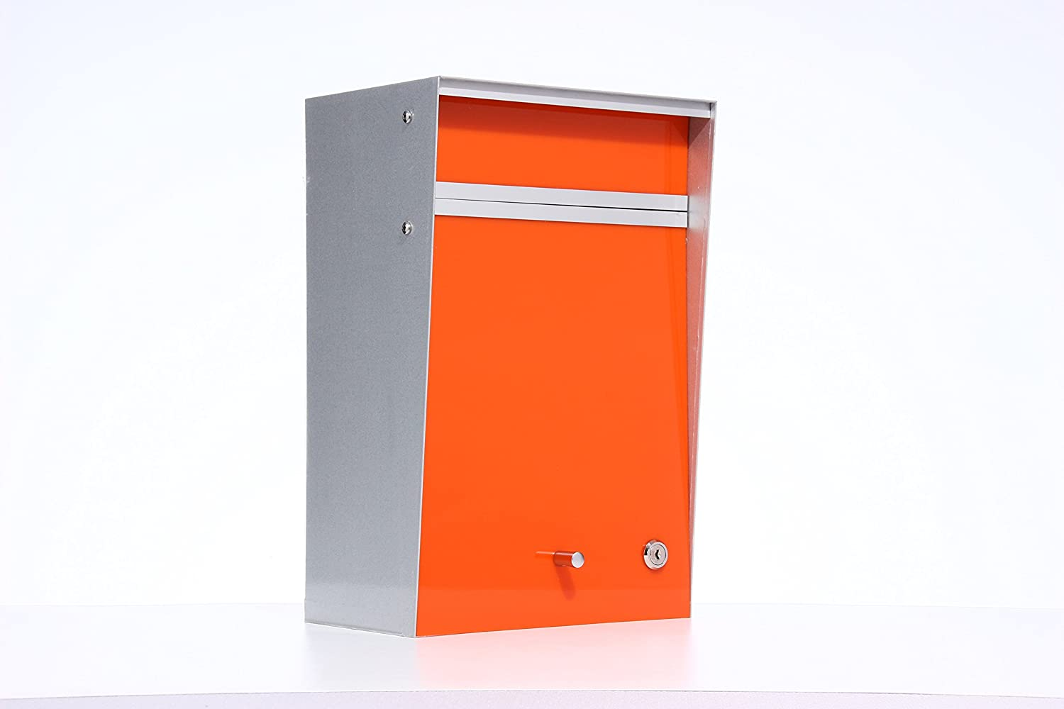 Box Design ポスト 郵便受け Wall Mounted  Orange B00W6HVQ8U 28080 Orange Orange