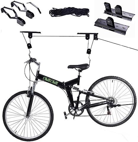 safstar Bike Lift techo rack Soporte de Bicicleta polipasto de ...