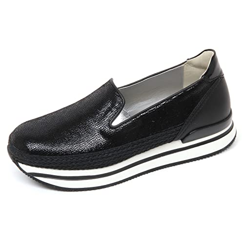 D0286 pantofola mocassino donna HOGAN H222 sneaker pantofola D0286 corda nero shoes woman 36931d