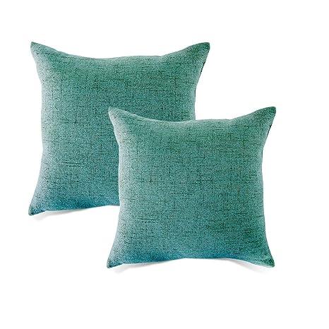 MRNIU cojines decoracion 45 x 45 oscuro cojines sofas fundas de cojin fundas de almohadas Funda de almohada con cremallera invisible, sin almohadas 18 ...