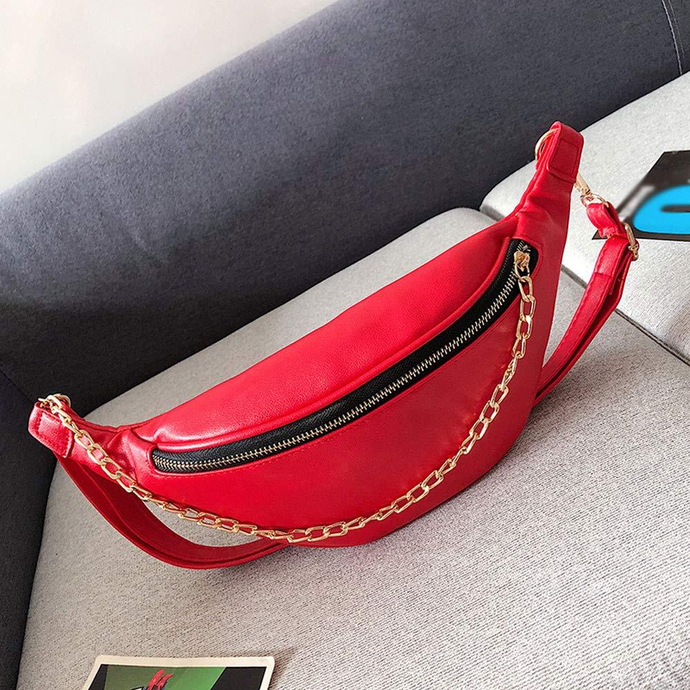 Cargador Gafas De Sol Memefood Bolsa Sencillo De Cintura De Mujer Ri/ñonera Deportiva De Cierre Cremallera De Cadena Fanny Pack Con Correa Ajustable Para Llevar Pasaporte