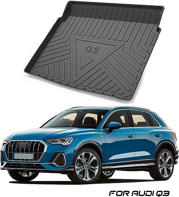 Yee Pin Kofferraummatte Für Audi Q3 F3 Suv 2 Lower Layer 2019 Seitenschutz Tpo Material Laderaumschale Schutzmatte Für Sicheren Transport Von Gepäck Rutschfester Auto