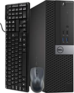 Dell OptiPlex 7040 SFF Computer Desktop PC, Intel Core i5 6500 3.2GHz Processor, 16GB Ram, 256GB NVMe SSD, BTO Keyboard & Mouse, WiFi   Bluetooth, HDMI, Windows 10 Professional (Renewed)