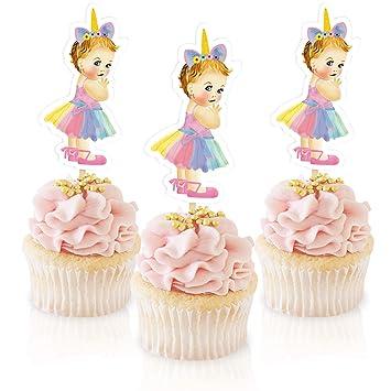 Unicorn Princess Cupcake Topper Royal Baby Shower Decoration