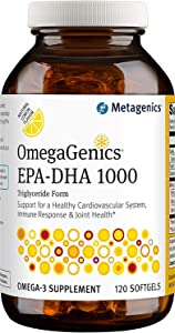 Metagenics OmegaGenics EPA-DHA 1000 Dietary Supplement, 120 Count