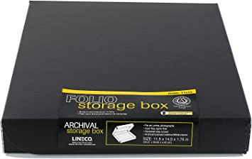 Cards Clamshell Lid Craft Magazine Lineco 16x20 Grey Archival Folio Storage Box Organize and Store Photos Wedding Dresses Documents Protects Longevity Prints Metal Edge Archival Boxboard